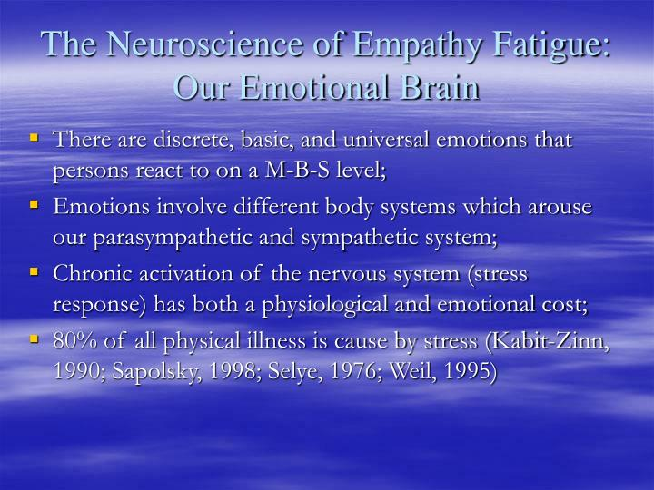 The Neuroscience of Empathy Fatigue: Our Emotional Brain