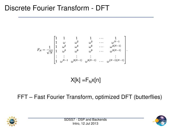 Discrete Fourier Transform - DFT