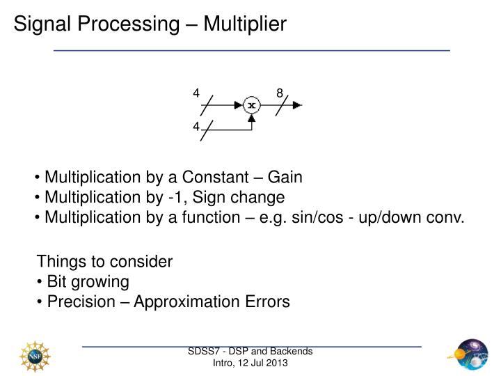 Signal Processing – Multiplier