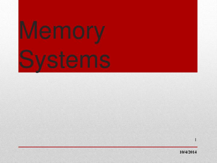 memory systems n.