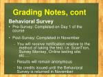 grading notes cont