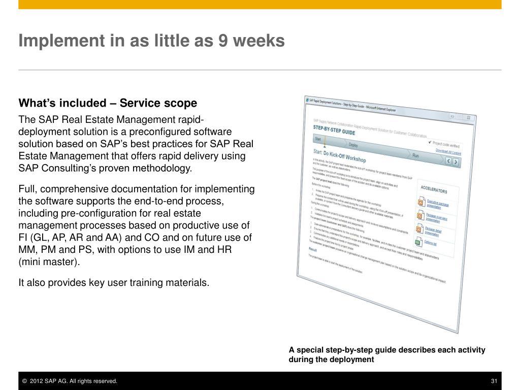 PPT - SAP Real Estate Management rapid-deployment solution