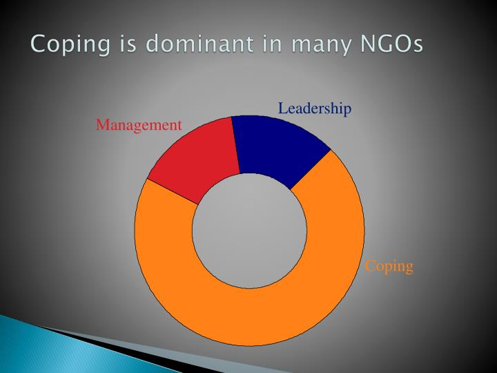 Coping is dominant in many NGOs