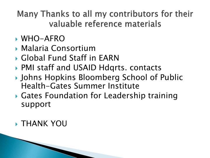 Many Thanks to all my contributors for their valuable reference materials