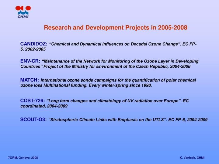 Research and Development Projects