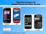 operating systems for mobile phones and other devices2