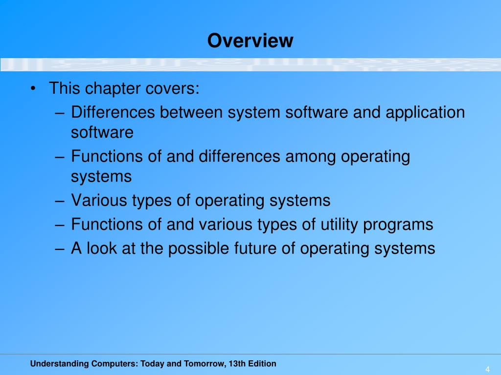 PPT - Chapter 5: System Software: Operating Systems and