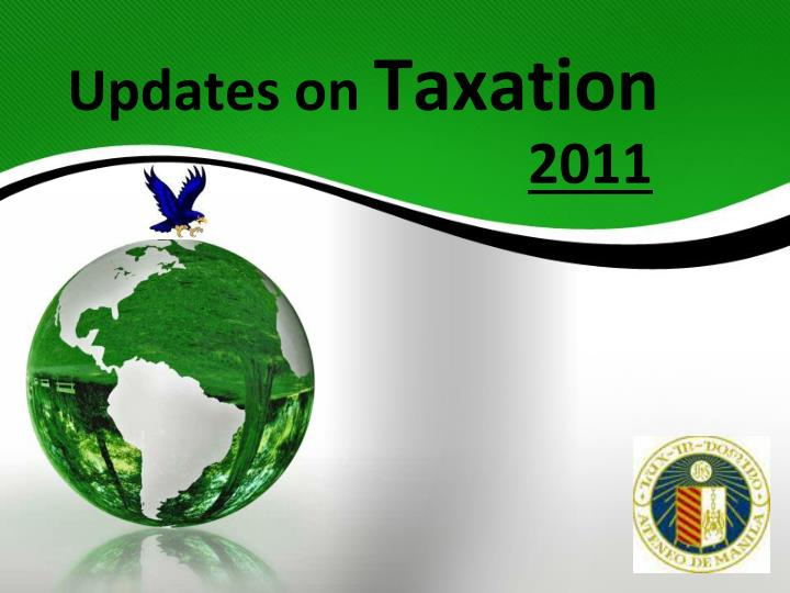 updates on taxation n.