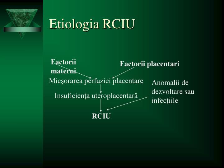 Etiologia RCIU