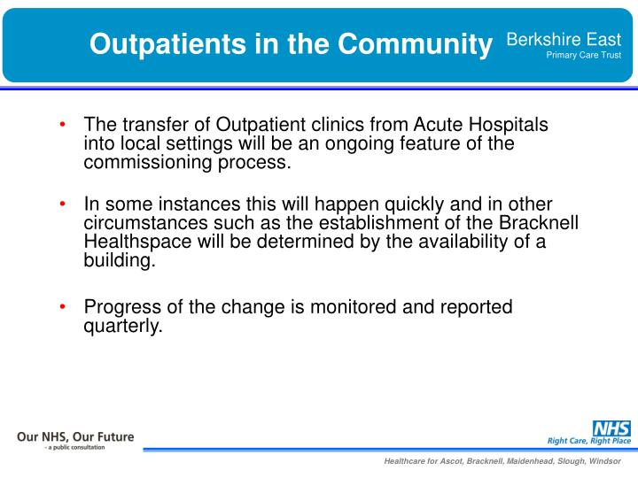 Outpatients in the Community