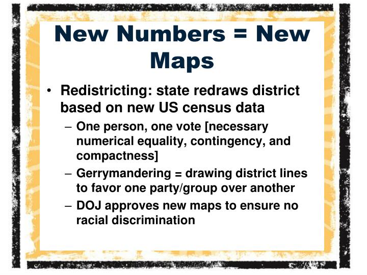 New Numbers = New Maps