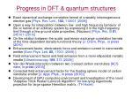 progress in dft quantum structures