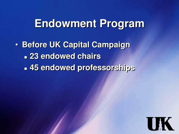 Endowment Program