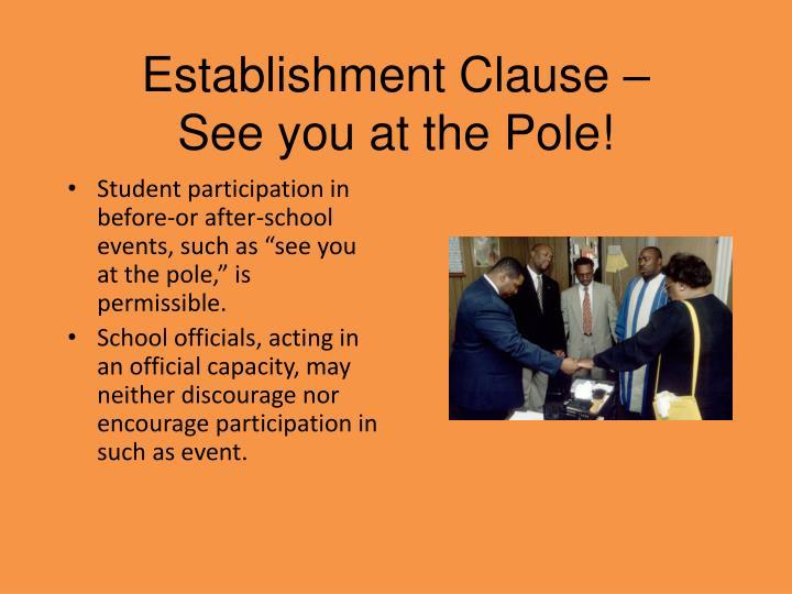 Establishment Clause –