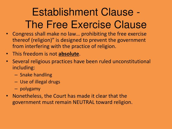 Establishment Clause -