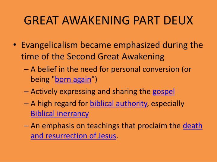 GREAT AWAKENING PART DEUX