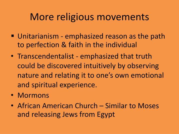 More religious movements