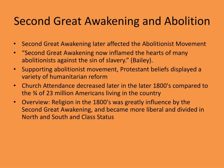 Second Great Awakening and Abolition