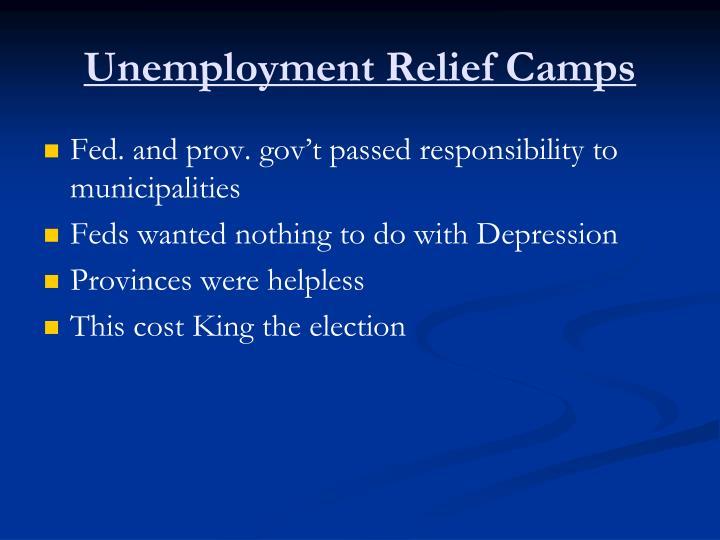 Unemployment Relief Camps