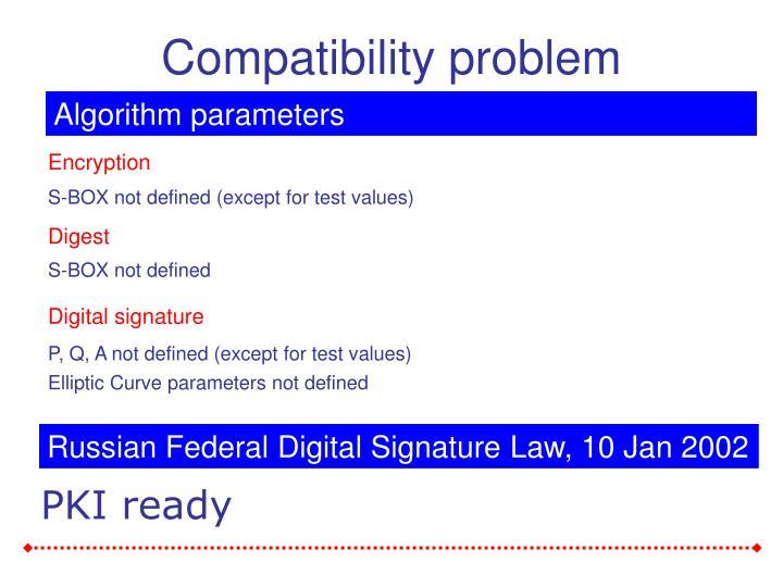 Compatibility problem