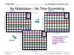 no modulation no time scrambling