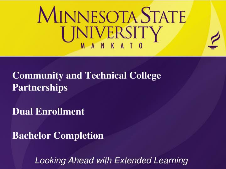 community and technical college partnerships dual enrollment bachelor completion