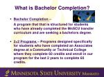 what is bachelor completion