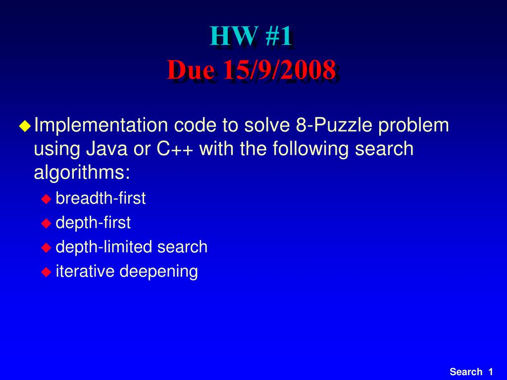 Ppt Hw 1 Due 15 9 2008 Powerpoint Presentation Id 5139588