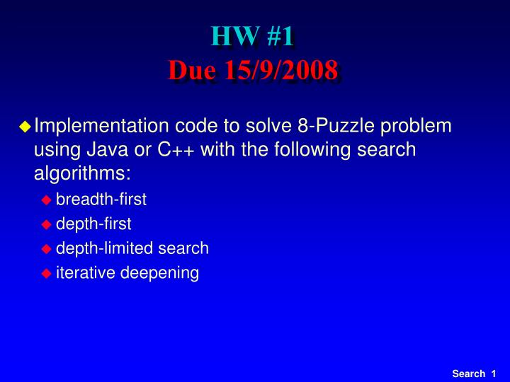 PPT - HW #1 Due 15/9/2008 PowerPoint Presentation - ID:5139588