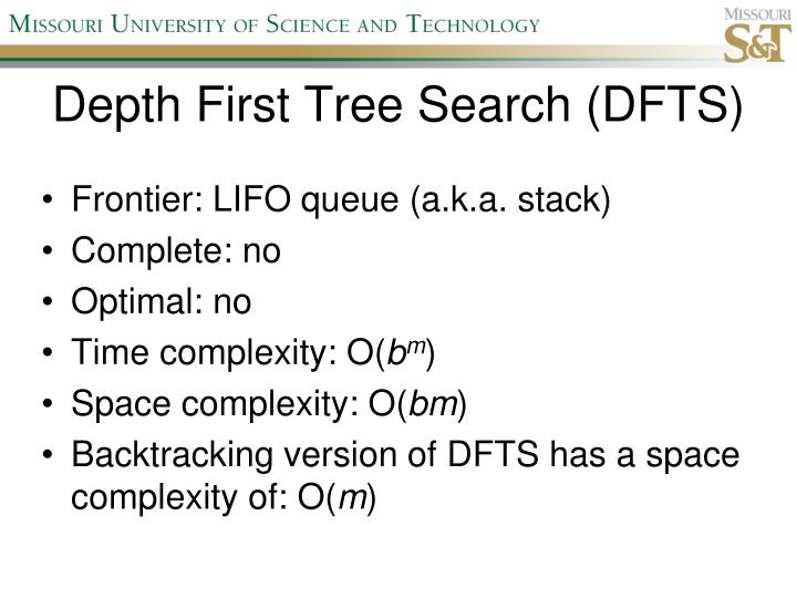 Depth First Tree Search (DFTS)
