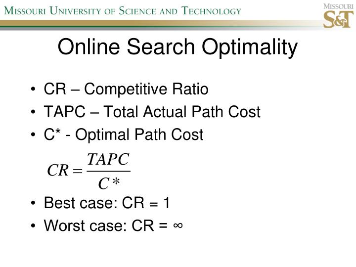 Online Search Optimality