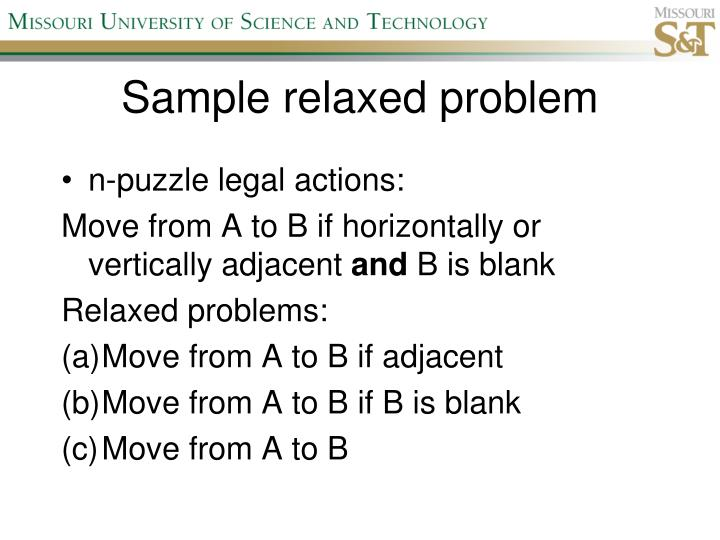 Sample relaxed problem