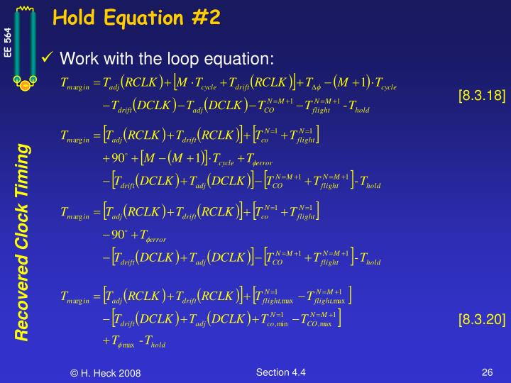 Hold Equation #2