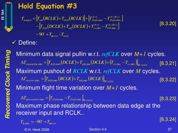 Hold Equation #3