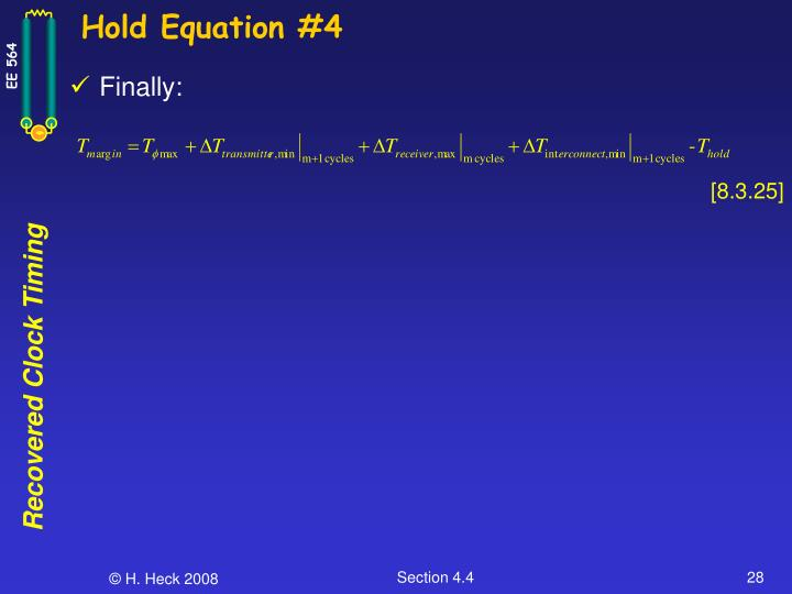Hold Equation #4