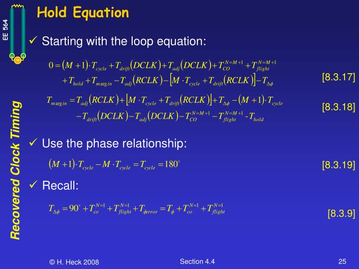 Hold Equation