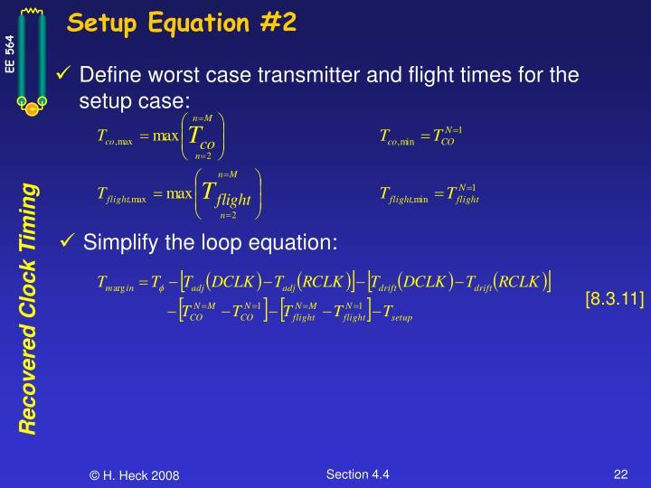 Setup Equation #2