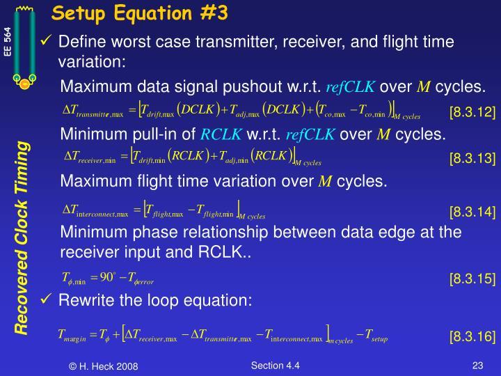 Setup Equation #3