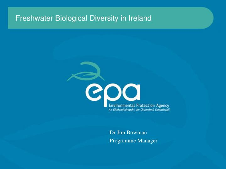 freshwater biological diversity in ireland n.