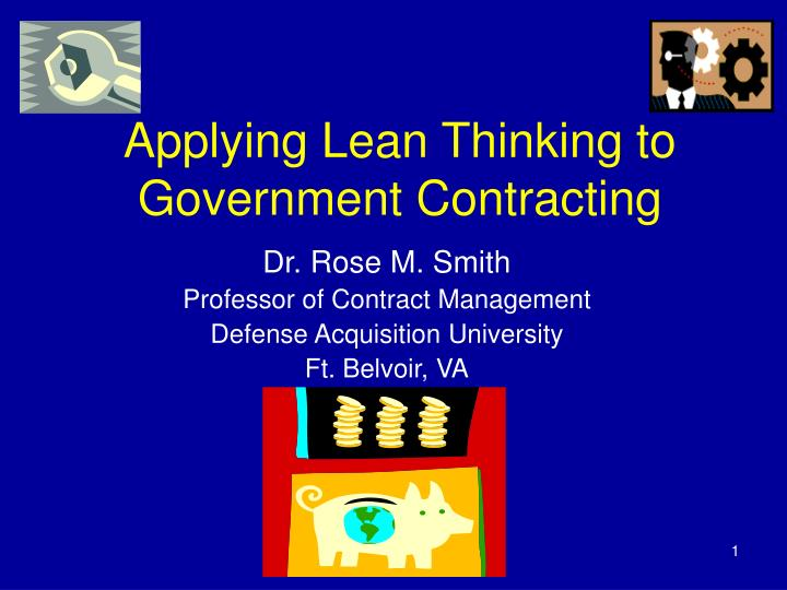 applying lean thinking to government contracting n.