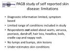 pagb study of self reported skin disease limitations