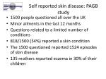 self reported skin disease pagb study
