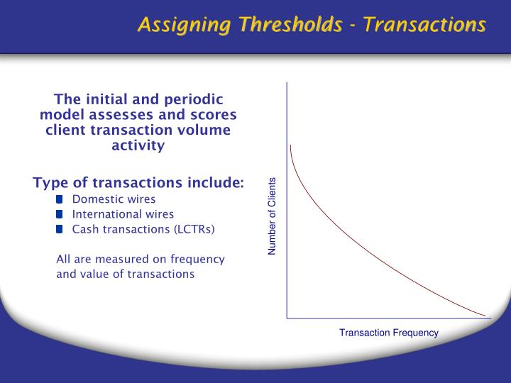 Assigning Thresholds - Transactions