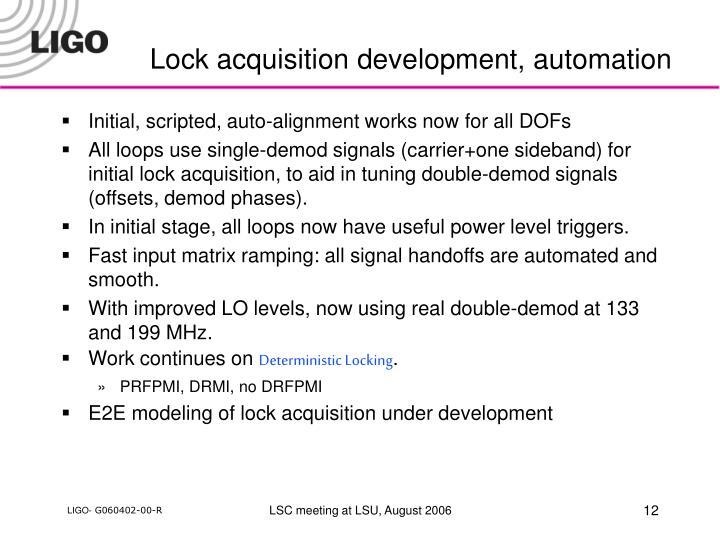 Lock acquisition