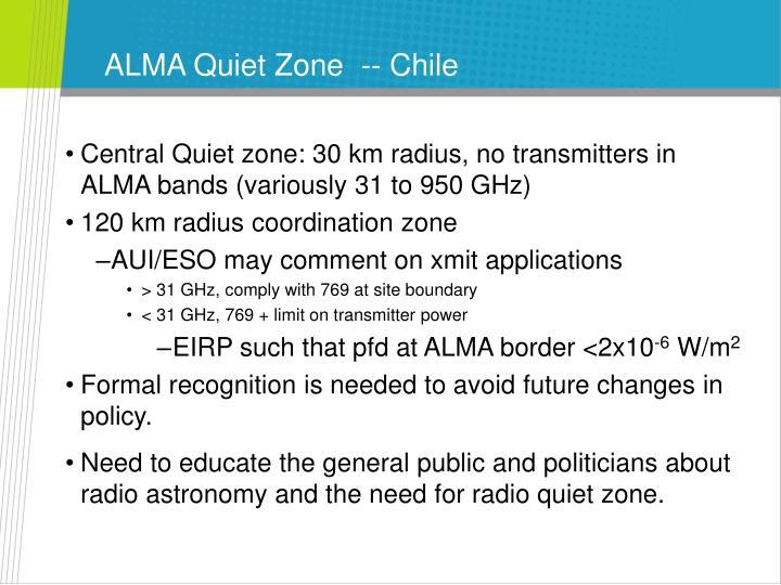 ALMA Quiet Zone  -- Chile