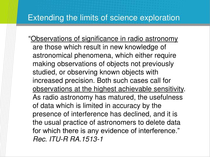 Extending the limits of science exploration