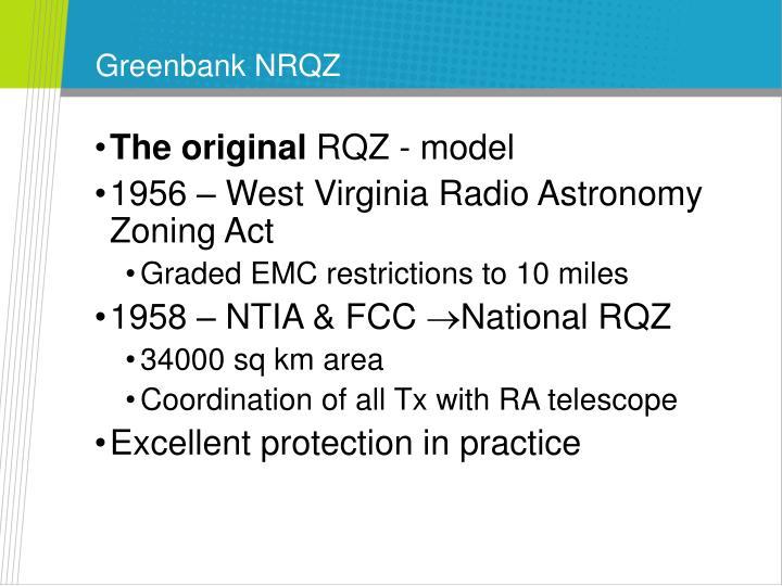 Greenbank NRQZ