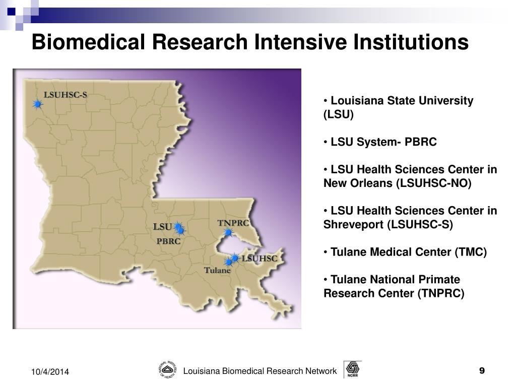 PPT - Louisiana NCRR / IDeA 2010 Biomedical Research