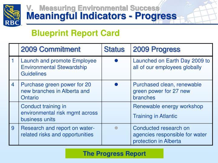 Measuring Environmental Success