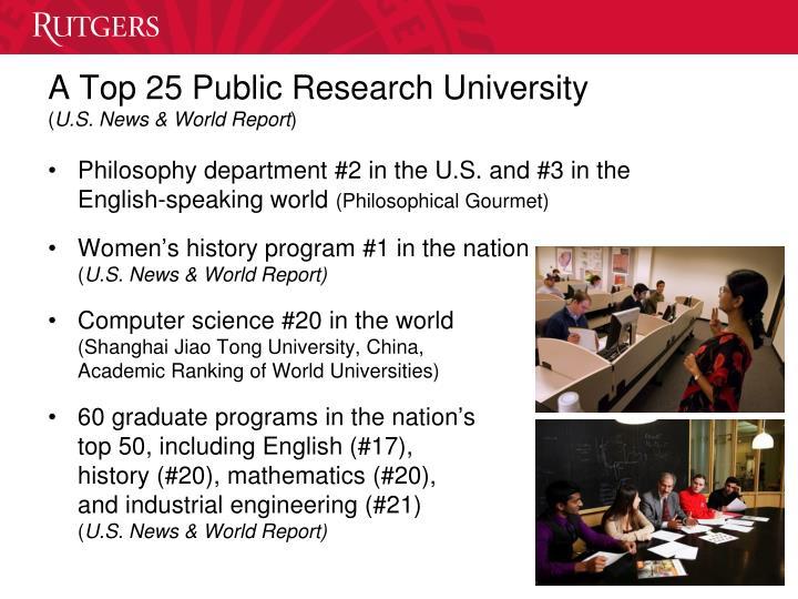 A Top 25 Public Research University